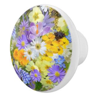 La primavera florece el botón de cerámica pomo de cerámica