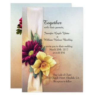 La primavera florece invitación del boda