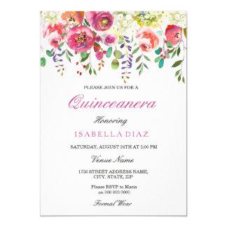 La primavera florece la invitación rosada de