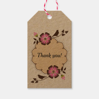La primavera le agradece etiquetar con el marco etiquetas para regalos