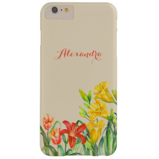 La primavera personalizada florece arte floral funda barely there iPhone 6 plus