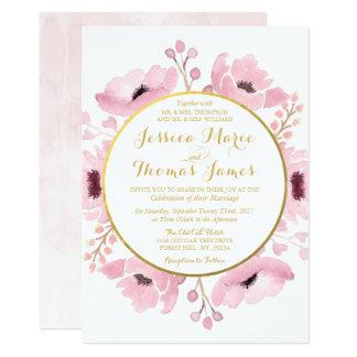 La primavera pica la colección floral del boda de invitación 12,7 x 17,8 cm