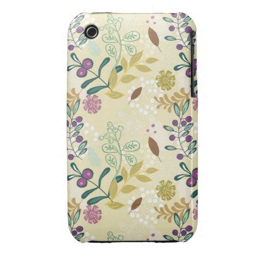 La primavera retra de la MOD del vintage florece e iPhone 3 Protectores