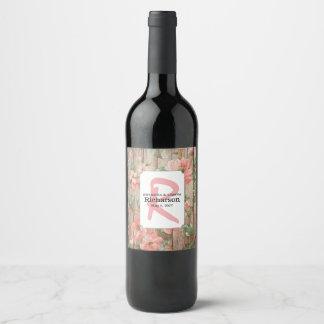 La primavera rústica florece etiqueta del vino del