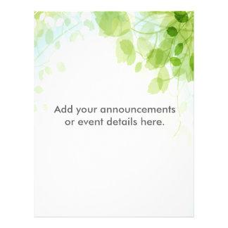 La primavera sale de personalizado de la acuarela folleto 21,6 x 28 cm