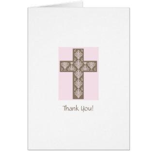 La primera comunión le agradece cardar tarjeta pequeña