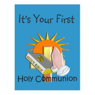La primera comunión santa embroma los regalos postales