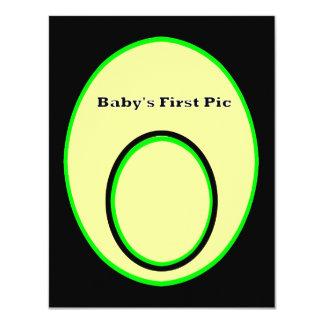 La primera imagen del bebé los regalos 2 de Zazzle Invitación 10,8 X 13,9 Cm