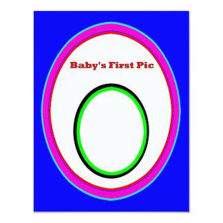 La primera imagen del bebé los regalos 3 de Zazzle Invitación 10,8 X 13,9 Cm
