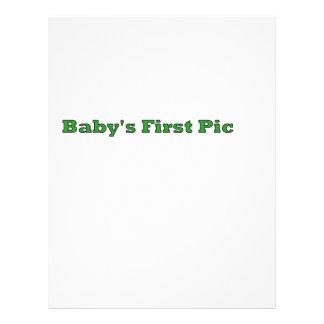 La primera imagen del bebé los regalos de Zazzle d Tarjetas Informativas