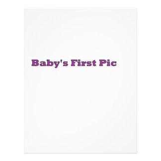 La primera imagen del bebé los regalos de Zazzle d Flyer A Todo Color
