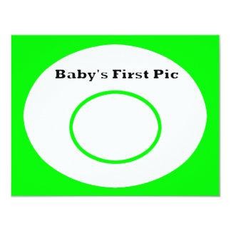 La primera imagen del bebé los regalos de Zazzle Invitación 10,8 X 13,9 Cm