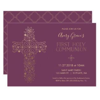 La primera invitación de la comunión santa, cruz