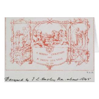 La primera tarjeta de Navidad, por J.C.Horsley,