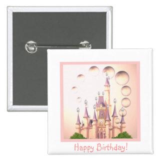 La princesa Castle Birthday Invitations de la niña Chapa Cuadrada