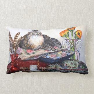 """""""La princesa Cat"""" en el revestimiento de la almoha Cojin"""