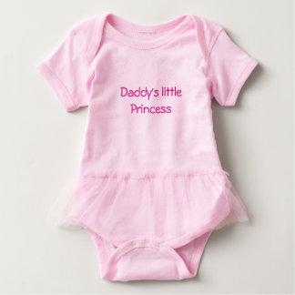 La princesa de la niña del tutú del papá rosado body para bebé