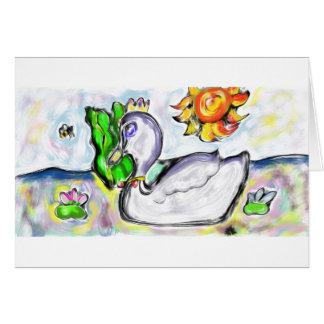 la princesa del cisne de ella tarjeta de felicitación