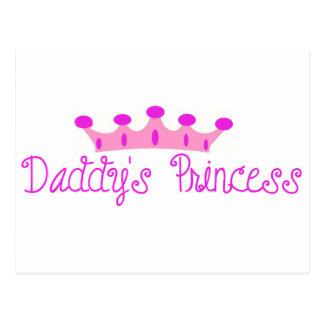 La princesa del papá tarjeta postal