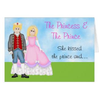 La princesa, el príncipe y la tarjeta de cumpleaño
