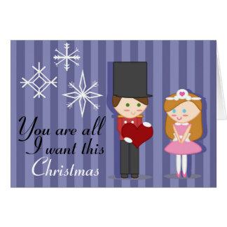 La princesa y el cascanueces tarjeta de felicitación