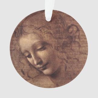 La principal femenino Scapigliata de Leonardo da V