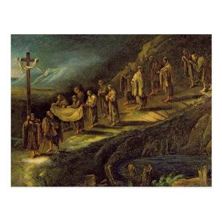 La procesión de la cubierta santa postal