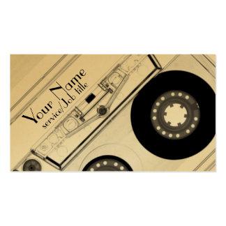 La producción audio DJ de la música juega la Tarjetas De Visita