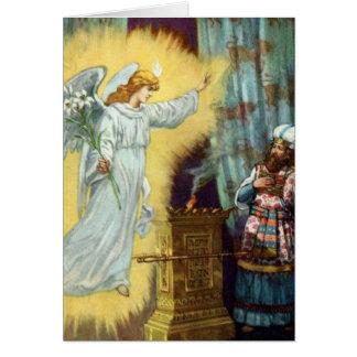 La promesa de dios a Zacharias Tarjeta