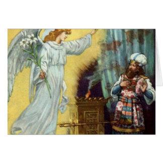 La promesa de dios a Zacharias Tarjeta De Felicitación