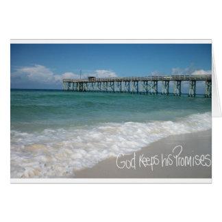 La promesa de dios tarjeta de felicitación