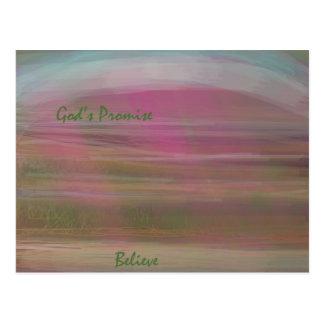 La promesa de dios tarjeta postal