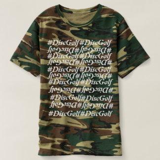 La promoción del golf del disco de la camiseta del