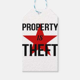 La propiedad es hurto - comunista socialista del etiquetas para regalos