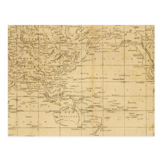 La proyección de Mercator del mundo Postal