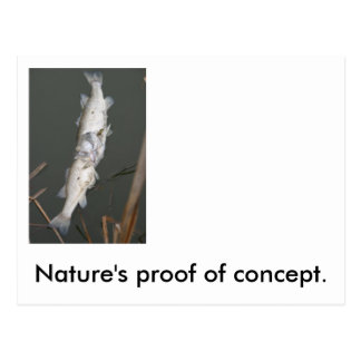 La prueba del concepto de la naturaleza tarjetas postales