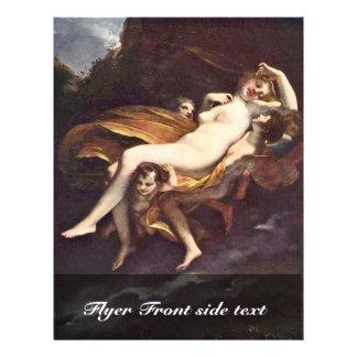 La psique es secuestrada por los vientos, por la folleto 21,6 x 28 cm