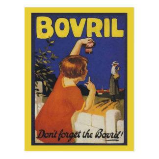 La publicidad retra del vintage, no olvida el Bovr Tarjeta Postal
