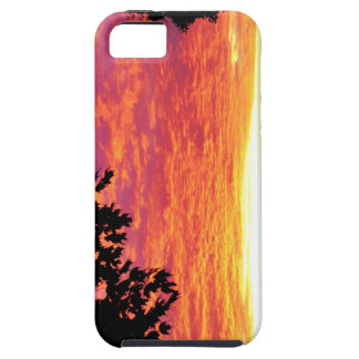 La puesta del sol de Caja del teléfono de Funda Para iPhone SE/5/5s