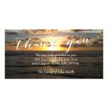 La puesta del sol de la playa después del tarjetas fotograficas