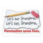 La puntuación ahorra vidas tarjetas postales
