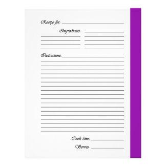 La púrpura 2 echó a un lado las páginas de la flyer