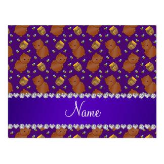 La púrpura conocida lleva el modelo de las abejas postal