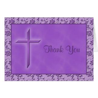 La púrpura cristiana le agradece cardar tarjeta de felicitación