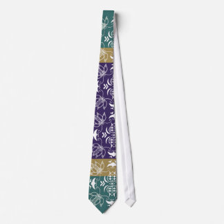 La púrpura, dios y el diseño creativo verde sirvió corbata