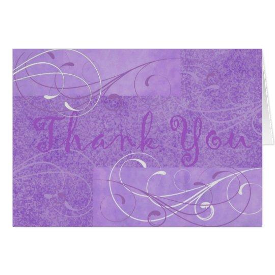 La púrpura elegante le agradece Notecard Tarjeta Pequeña