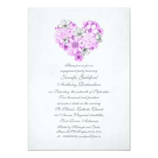 la púrpura florece al fiesta de compromiso del invitación 12,7 x 17,8 cm