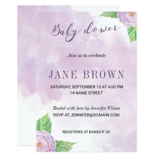 La púrpura florece la invitación de la fiesta de