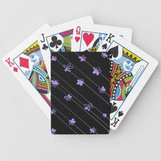 La púrpura florece naipes del póker de Bicycle®