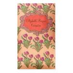La púrpura florece tarjetas de visita del ~